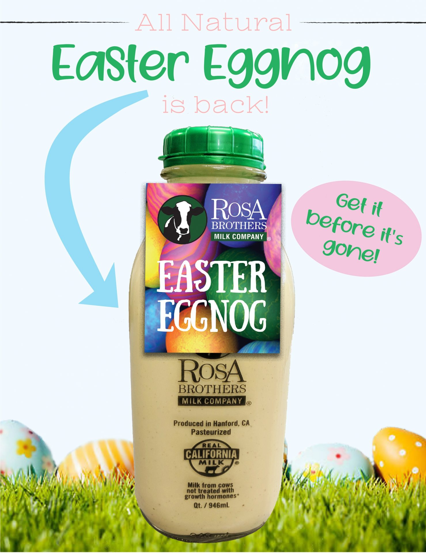 Easter Eggnog Flyer customer