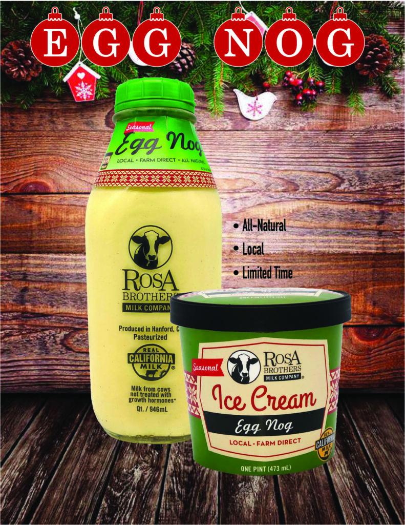 Egg Nog and Egg Nog Ice Cream